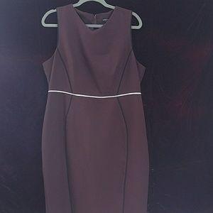 Plum pencil dress Dorothy Perkins sz 14
